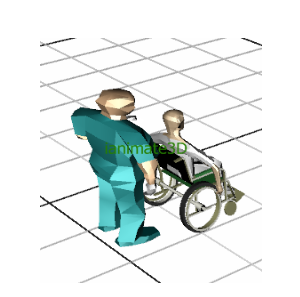3D Healthcare Doctor and Patient
