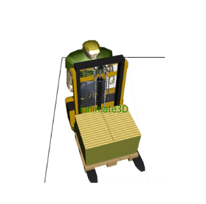 3D Pallet Jack with Worker