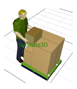 3D Pallet Loading - Palletization Animation