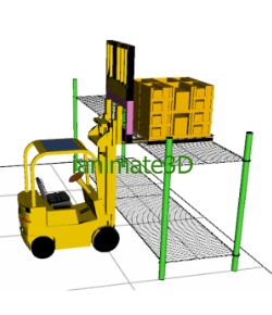 3D Fork Truck Loading Animation