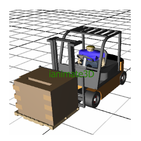 3D Fork Truck Pallet Movement